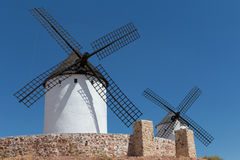 Windmills near Alcazar de San Juan Royalty Free Stock Photos
