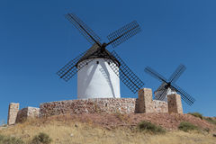 Windmills near Alcazar de San Juan Stock Images