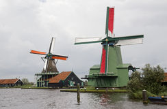 Windmills near Amsterdam Royalty Free Stock Photography