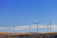 Windmills near Madrid, Spain Royalty Free Stock Photos