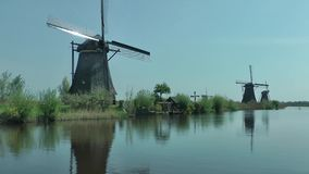 Windmills in netherlands stock video