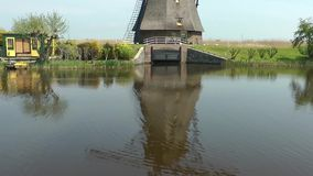 Windmills in netherlands stock footage