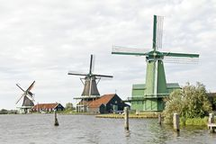 Windmills in the Netherlands Royalty Free Stock Photography