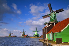 Windmills at Netherlands. Stock Photos