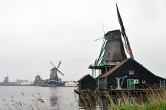 Windmills in Netherlands Royalty Free Stock Images