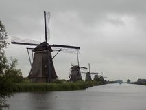 The windmills of the Netherlands stock photos