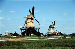 WINDMILLS IN NETHERLANDS Royalty Free Stock Photo