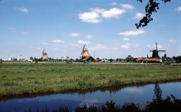 WINDMILLS IN NETHERLANDS Stock Photo