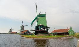Windmills in the Netherlands - the same ones that served the great Dutch landscape painters for their wonderful works of art. There are still remarkably Royalty Free Stock Image