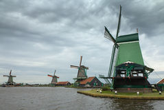 Windmills in Netherlands Royalty Free Stock Photography