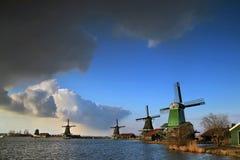 Windmills at Netherlands. Windmills at Zaanse Schans, Netherlands Stock Photography