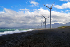 Windmills in north area of Philippines royalty free stock photography