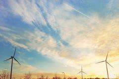 windmills Nubes hermosas en el cielo Viaje romántico europa imagen de archivo libre de regalías