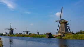 Free Windmills Of Kinderdijk, The Netherlands. Stock Photography - 169912432