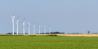 Windmills old and new Royalty Free Stock Photo