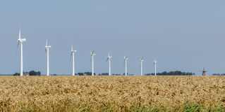 Windmills old and new Stock Photography