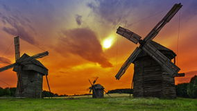 Windmills stock footage