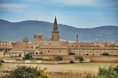 Windmills. Olite fields, Spain Stock Photography