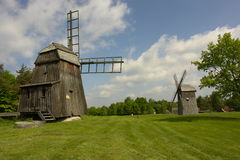 Windmills in Olsztynek Royalty Free Stock Photography