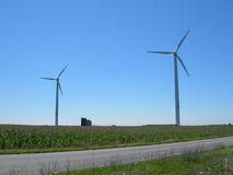 Windmills Over American Landscapes Stock Image