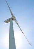 Windmills på soluppgången Arkivbild