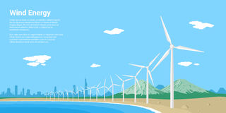 Windmills på soluppgången Arkivbilder