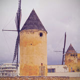 Windmills in Palma of Majorca Stock Photo