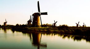 Windmills Panorama Stock Image
