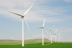 Windmills on prairie Royalty Free Stock Image
