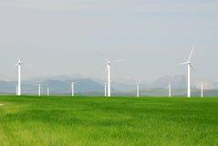 Windmills on prairie Royalty Free Stock Photography