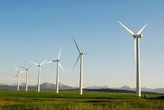 Windmills on prairie Royalty Free Stock Photos