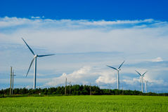 Windmills in Prince Edward Island Stock Images