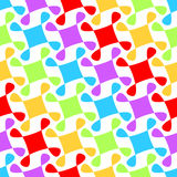 Windmills rainbow seamless pattern Stock Photography