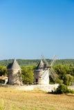 Windmills in Regusse Stock Photos