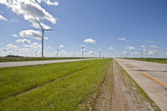 Windmills on Rte 41 in Indiana. Windmills on Route 41 in Indiana Royalty Free Stock Photo