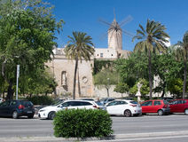 Windmills in Santa Catalina Royalty Free Stock Image