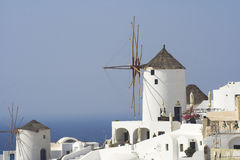 Windmills on Santorini Royalty Free Stock Photography