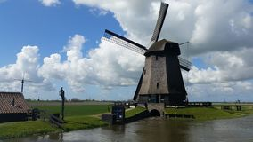 Windmills in Schermer Holland royalty free stock images