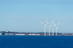 Windmills in the sea Royalty Free Stock Photography
