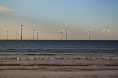 Windmills in the Sea royalty free stock images