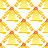 Windmills seamless pattern Stock Photos