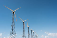 Windmills in the sky Royalty Free Stock Photo