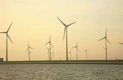 Windmills source of ecological energy Royalty Free Stock Image