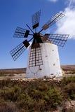 Windmills in Spain. Fuertawentura island stock image