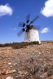 Windmills in Spain. Fuertawentura island royalty free stock images