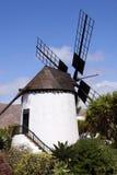 Windmills in Spain. Island fuertawentura stock photo