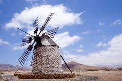 Windmills in Spain. Island fuertawentura stock image