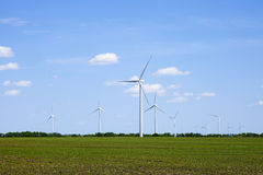Windmills in the Springtime Stock Photos