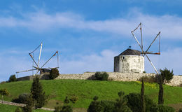 Windmills on a Sunny Day Royalty Free Stock Photos