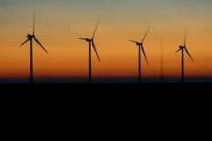 Windmills at Sunrise Stock Images
